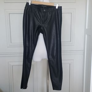 Waxed black jeans
